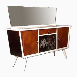 Mid-Century Lacquered Walnut Sideboard Attributed to Parisi Ico, 1940s