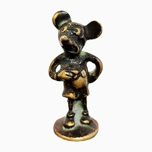 Austrian Bronze Mickey Mouse FIgurine from Hagenauer, 1930s