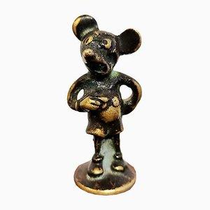 Mini platillo pequeño austriaco de bronce de Hagenauer, años 30