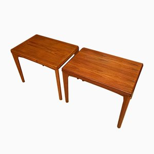 Danish Side Tables by Henning Kjaernulf for Vejle Møbelfabrik, 1960s, Set of 2