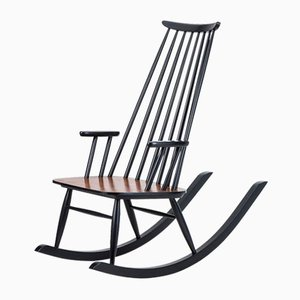 Finnish Rocking Chair by Varjosen Puunjalostus for Uusikylä, 1960s