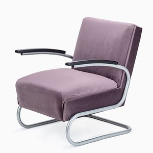 Czechoslovakian Model S411 Armchair from Mücke Melder, 1940s