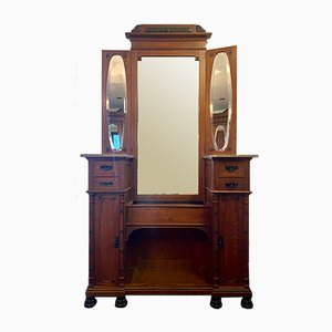 Art Deco Dressing Table with Mirror and Drawers, 1920s