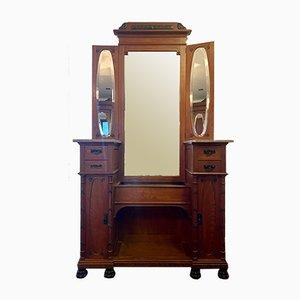 Tocador Art Déco con espejo y cajones, años 20