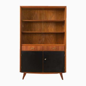 Walnut Veneer Display Cabinet from Musterring International, 1950s