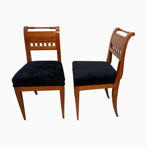 Neoclassical Biedermeier Side Chairs in Cherry, South Germany, 1820s, Set of 2