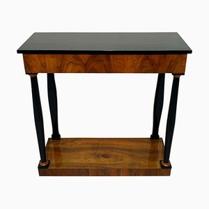 Neoclassical Biedermeier Console Table in Walnut Veneer, South Germany, 1820s