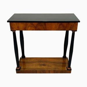 Table Console Néoclassique Biedermeier en Placage de Noyer, Allemagne du Sud, 1820s