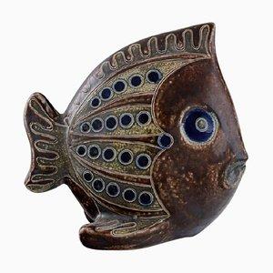 Fish Figure in Glazed Ceramic, 1980s