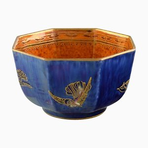 Fairy Bowl in Luster Glaze Decorated with Birds from Wedgwood, England, 1930s