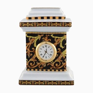 Barocco Miniature Clock in Porcelain by Gianni Versace for Rosenthal