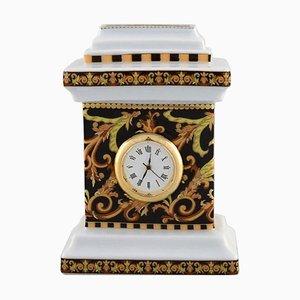 Horloge Miniature Barocco en Porcelaine par Gianni Versace pour Rosenthal