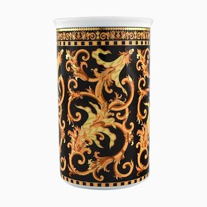 Barocco Vase in Porcelain with Gold Decoration by Gianni Versace for Rosenthal