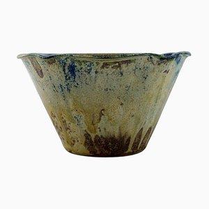 Schale aus glasierter Keramik von Arne Bang für Holmegaard, Denmark, 1930er