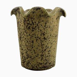 Vase in Glazed Ceramic Model Number 208 by Arne Bang, 1940s