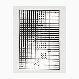 Silkscreen Serigraph Tlinko by Victor Vasarely, 1956