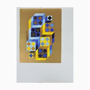 Silkscreen Serigraph Sample Print (BAT) / TRITIM by Victor Vasarely, 1972