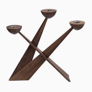 Caravel Candleholder in Walnut by Sven-Erik Tonn-Petersen for Spring Copenhagen
