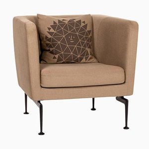 Light Brown Fabric Suita Armchair by Antonio Citterio for Vitra