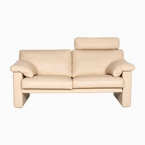 Cream Leather 2-Seat Sofa from Erpo