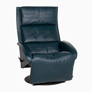 Petrol Blue Green Leather Leather Armchair from Jori