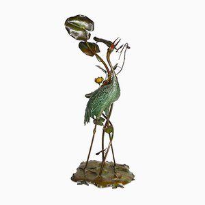Antique Stork in the Lillies