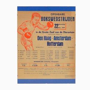 Poster della Boxing Match, anni '40