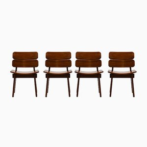 Brutalist Chairs, 1970s, Set of 4
