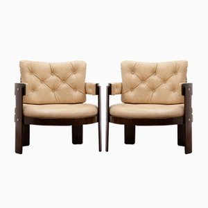 Barrel Chairs, 1970s, Set of 2