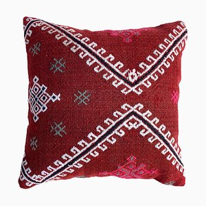 Vintage Handmade Wool Square Kilim Cushion Cover