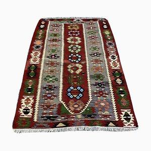 Türkischer Vintage Kelim Wollteppich