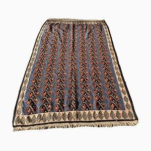 Alfombra Senneh Kilim vintage tradicional tejida a mano