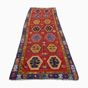 Antiker türkischer Sarkisla Kelim Teppich