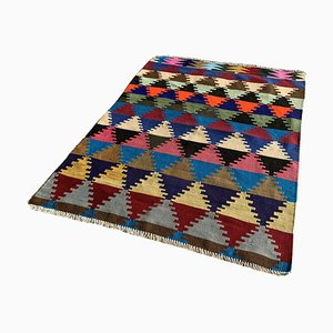 Vintage Turkish Wool Traditional Kilim Rug
