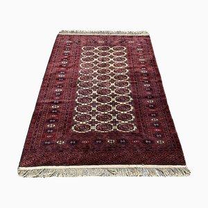 Vintage Hand-Knotted Afghan Bokhara Rug