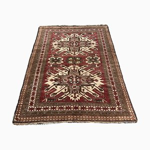 Vintage Turkish Hand-Knotted Kazak Rug