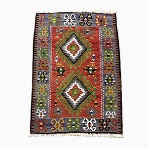 Alfombra Kilim turca vintage de lana tradicional