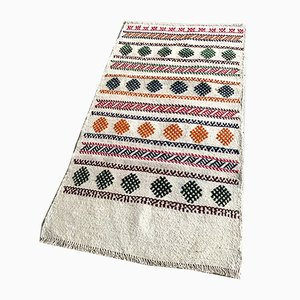 Vintage Turkish Traditional Wool Kilim Rug