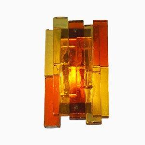 Lámpara de pared de vidrio de Svend Aage Holm Sorensen para Holm Sørensen & Co