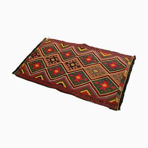 Kleiner Anatolischer Zicim Teppich aus Handgewobener Wolle