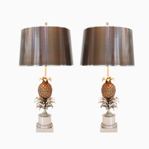 Pineapple Lamps by Maison Charles, Set of 2