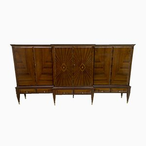 Mid-Century Italian Inlaid Maple Sideboard by Paolo Buffa for Cantu, 1950s