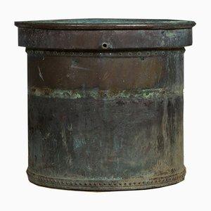 Large Antique Copper Planter