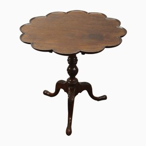 Mahogany Tripod Side Table on Cab Legs, 1850s