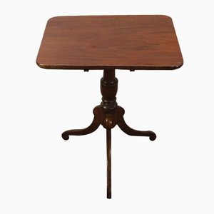 Mahogany Rectangular Tip up Table on Cab Legs, 1900s