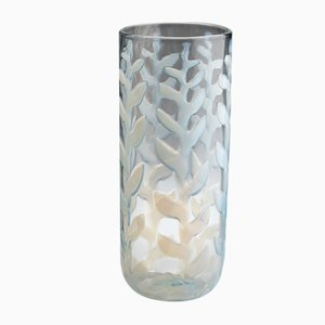 Vase Flamme en Verre Opalin par Ercole Barovier pour Barovier & Toso, 1950s