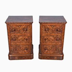 Antique English Walnut Chest of Drawers from Hobbs & Co., Set of 2