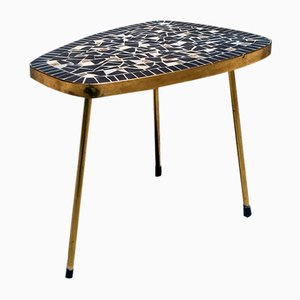 Mid-Century Danish Coffee Table or Plant Holder with Mosaic Top, 1960s