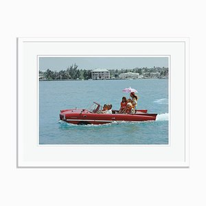 Sea Drive Oversize C Print Framed in White by Slim Aarons