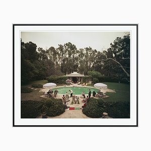 Scone Madam Oversize C Print Framed in White by Slim Aarons